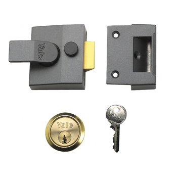 Yale Locks 84 Standard Nightlatch 40mm Backset DMG Finish Box