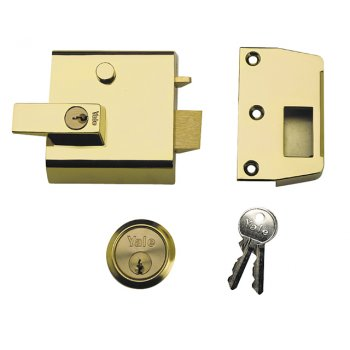 Yale Locks P1 Double Security Nightlatch 60mm Backset Chrome Finish Visi