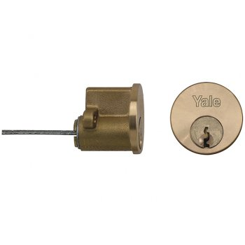 Yale Locks P1109 Replacement Rim Cylinder & 2 Keys Satin Chrome Finish Visi