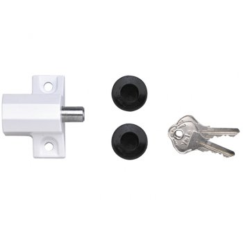 Yale Locks P114 Patio Door Lock Grey Finish Visi