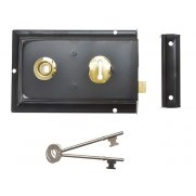 Yale Locks P334 Rim Lock Black Finish 156 x 104mm Visi