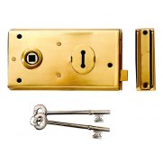 Yale Locks P401 Rim Lock Polished Brass Finish 138 x 76mm Visi