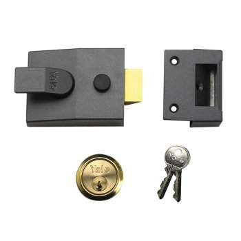Yale Locks P89 Deadlock Nightlatch 60mm Backset DMG Finish Visi