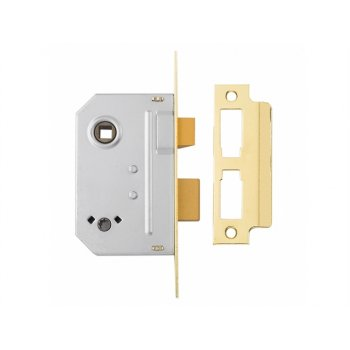 Yale Locks PM236 Bathroom 2 Lever Sashlock 67mm 2.5in Polished Brass