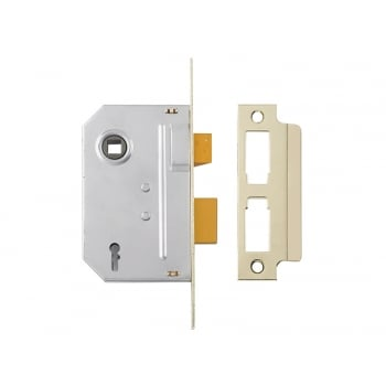 Yale Locks PM320 3 Lever Mortice Sashlock 65mm 2.5in Polished Brass