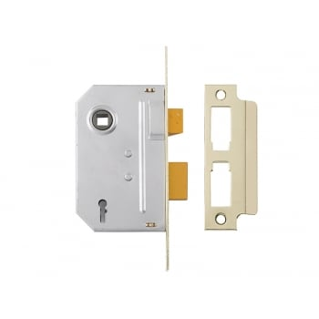Yale Locks PM320 3 Lever Mortice Sashlock 79mm 3in Polished Brass