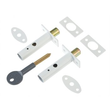 Yale Locks PM444 Door Security Bolts White Finish Visi of 2
