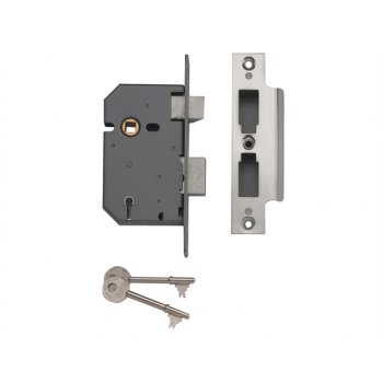 Yale Locks PM550 5 Lever Mortice Sashlock Polished Chrome 67mm 2.5in