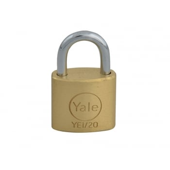 Yale Locks YE1 Brass Padlock 20mm