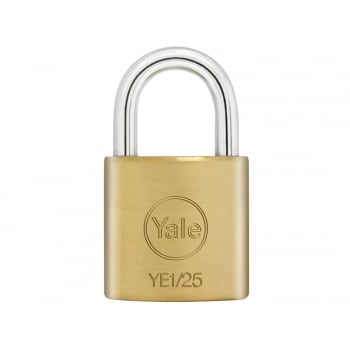 Yale Locks YE1 Brass Padlock 25mm