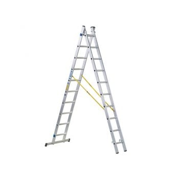 Zarges D-Rung Combination Ladder 2-Part 2 x 12 Rungs