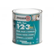 Zinsser 123 Bulls Eye Plus Primer / Sealer Paint 1 Litre