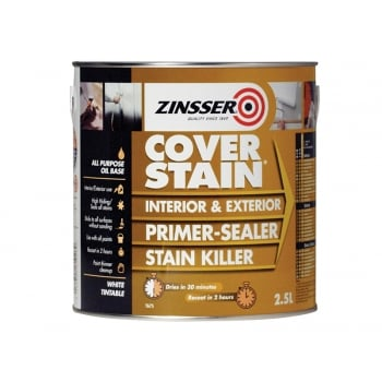 Zinsser Cover Stain Primer / Finish Paint 2.5 Litre